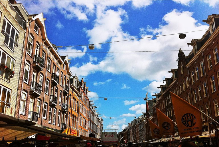 Sunny skies over Albert Cuyp Markt