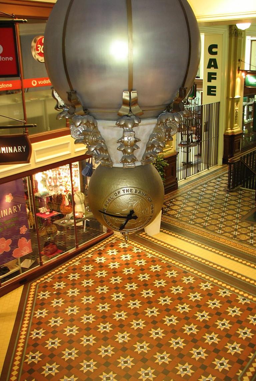 Old Bank Arcade Clock in Wellington