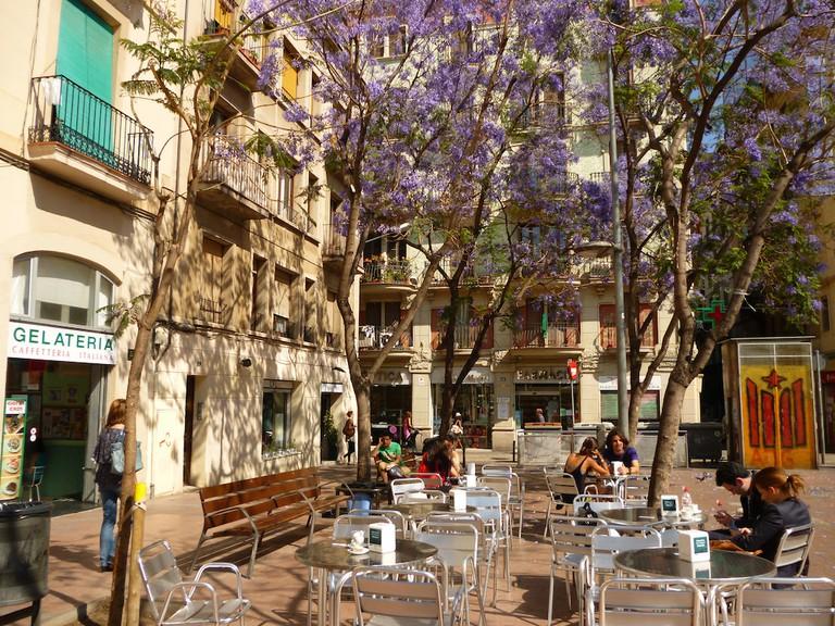 Café terraces in Gràcia © Oh-Barcelona.com
