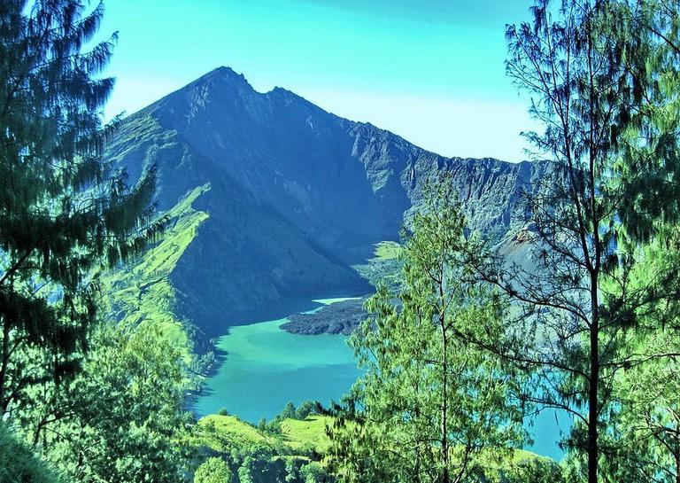 Segara Anak Lake on Mount Rinjani in Lombok