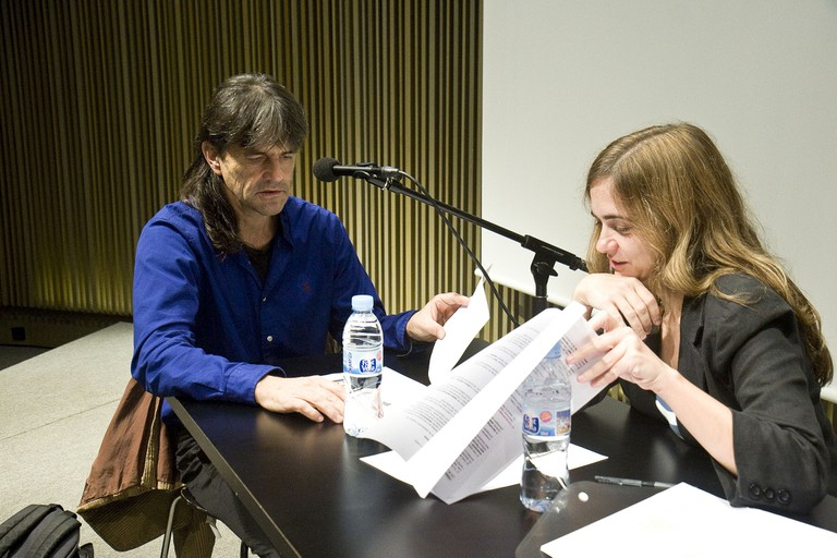 Perejaume (left) during an interview in 2012 © MACBA Museu d'Art Contemporani de Barcelona