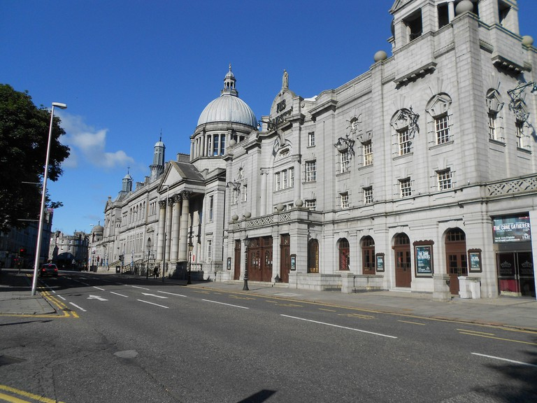 Right to Left: His Majesty's Theatre, St. Mark's, Central Library