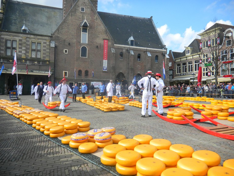 The cheese market at Alkmaar