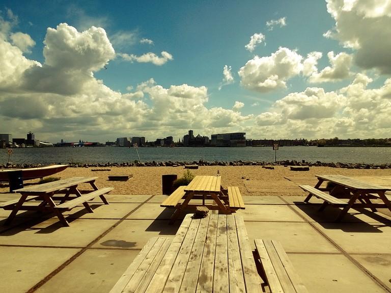 Pllek's beachside terrace