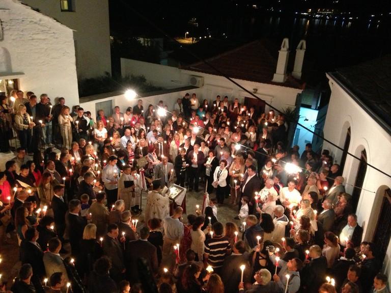 Holy Saturday ceremony, Skopelos, Greece