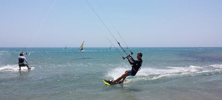 Windsurfing at Prassonisi