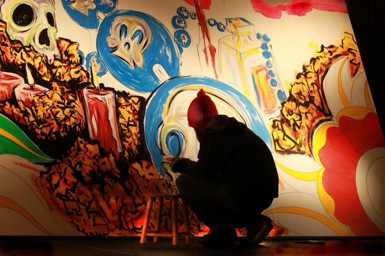 A painter working on art | © Always Shooting/ Flickr
