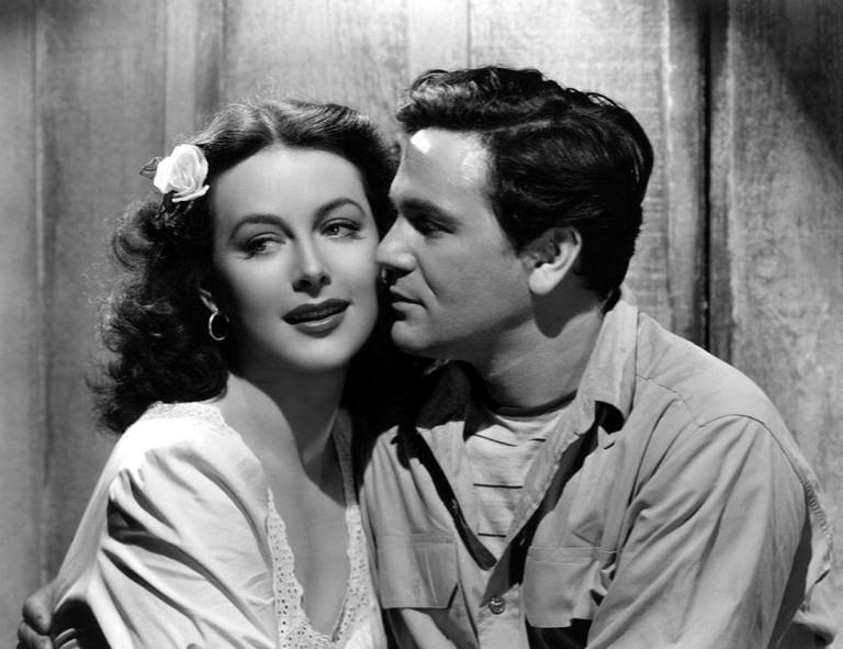 Lamarr and John Garfield in 'Tortilla Flat'