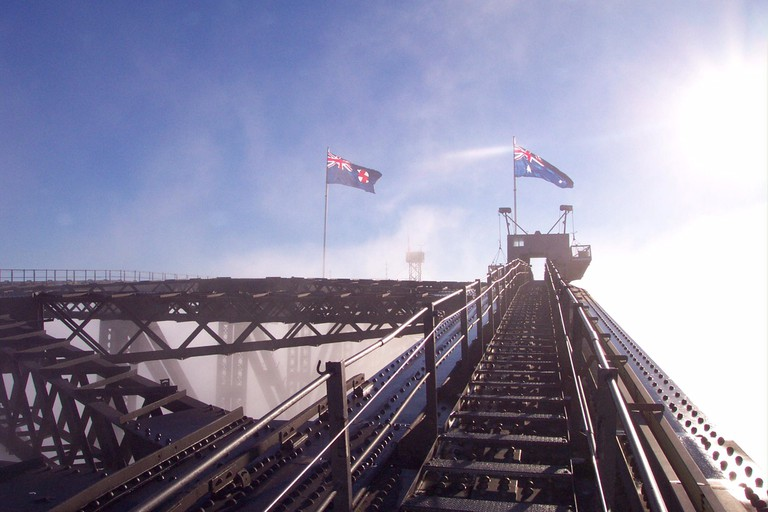 Ascending the Harbour Bridge image courtesy if Sydney BridgeClimb