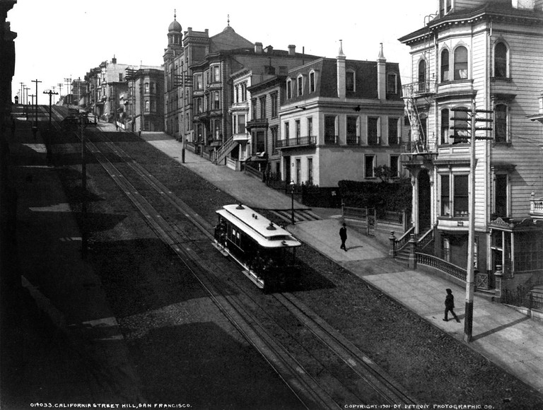 California Street with cable car