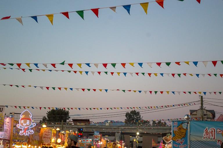 Some of the Richmond Night Market stalls