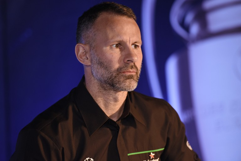 Giggs was attending the UEFA Champions League Trophy Tour. | © Getty Images