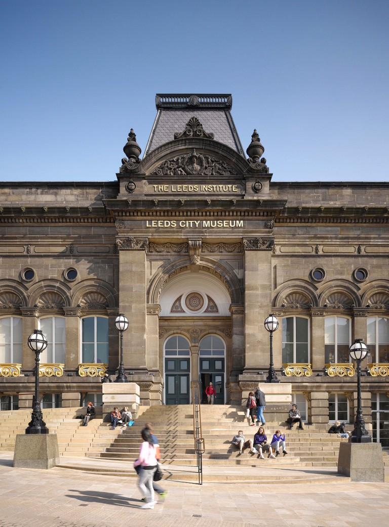 Exterior of the Leeds City Museum, Leeds, Yorkshire.