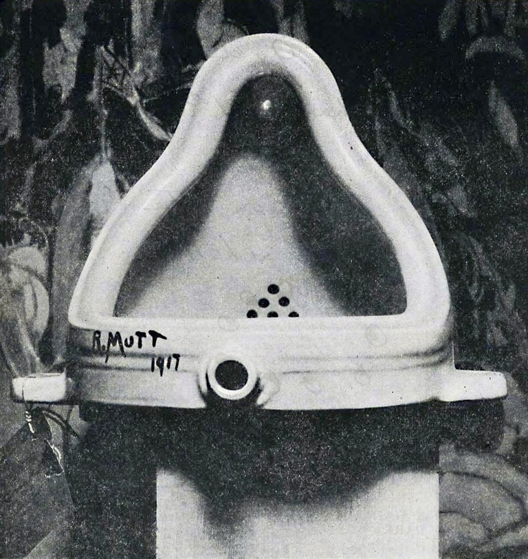 Marcel Duchamp, Fountain (1917). Photography by Alfred Stieglitz, courtesy of Creative Commons