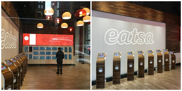 An Eatsa outpost in Manhattan (left and right)
