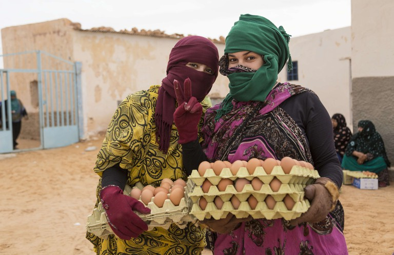World Food Programme Food for Life: Collecting Egg Rations, Smara Refugee Camp