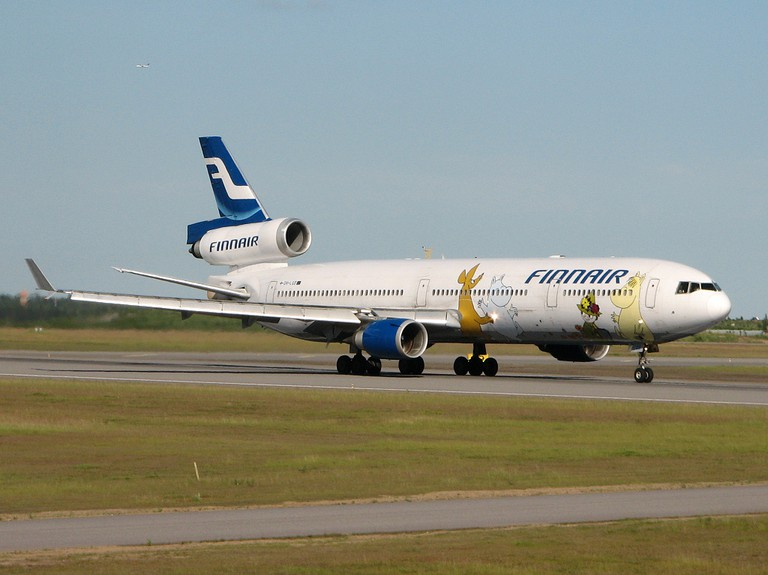 A Finnair plane with Moomin characters/ Wikicommons