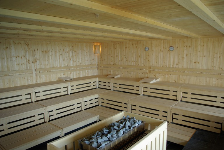 A typical sauna interior/ Pixabay
