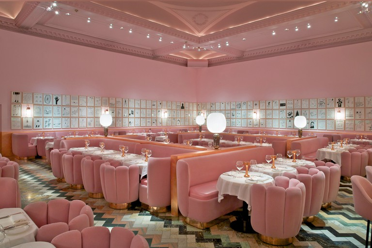 The gallery at Sketch, designed by India Mahdavi