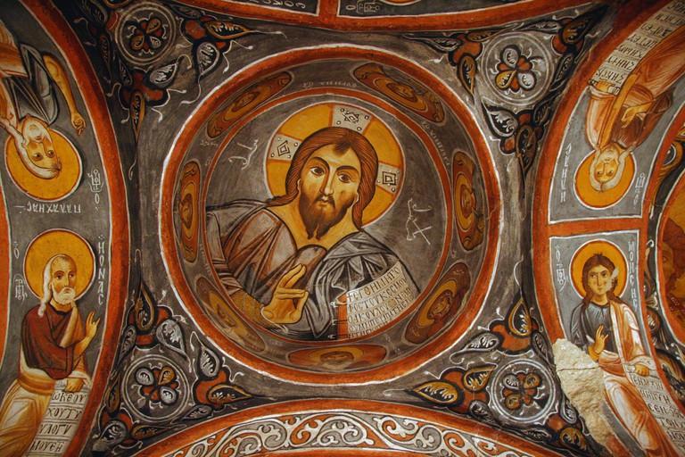 Fresco of Christ Pantocrator, Göreme