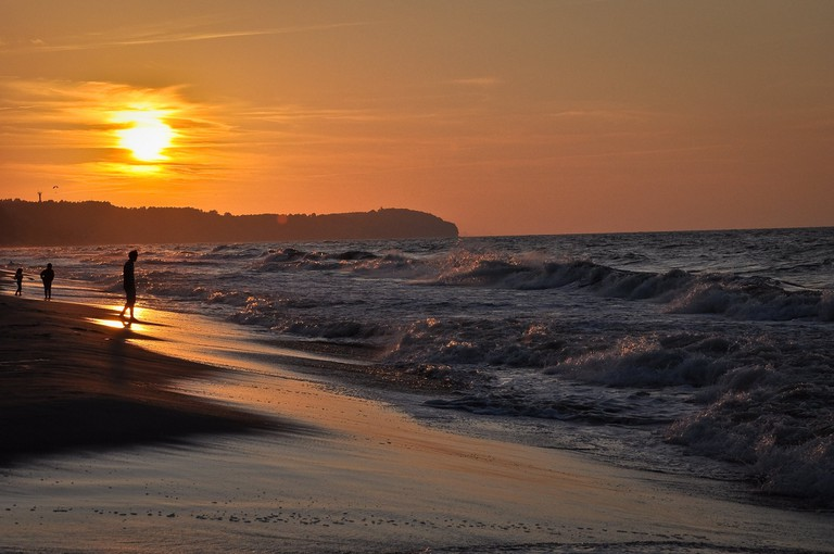 Baltic sea sunset, Hel, Poland