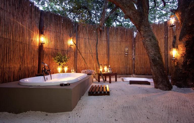 Kosi Forest Lodge outdoor bathroom