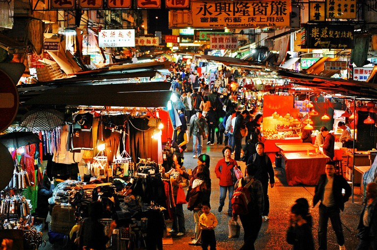 Temple Street Night Market in Hong Kong | Pixabay