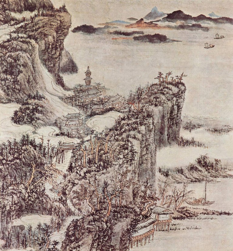 Chinese painting from 1664 by the Qing Dynasty painter, Kun Can | WikiCommons