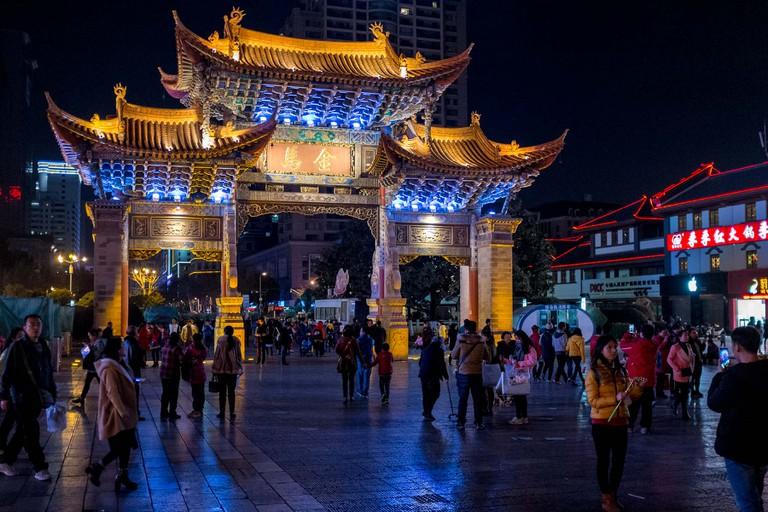 Kunming at night | © Charlie Moseley