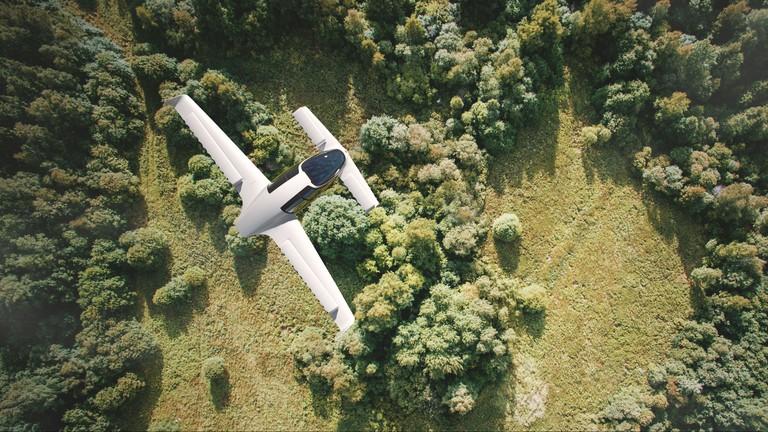 The Lilium jet flying | Courtesy of Lilium