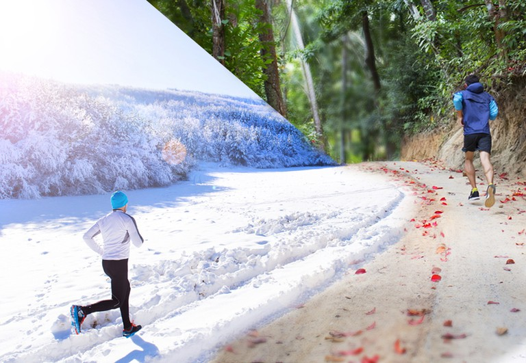 Runners push themselves even further by taking on challenging climates