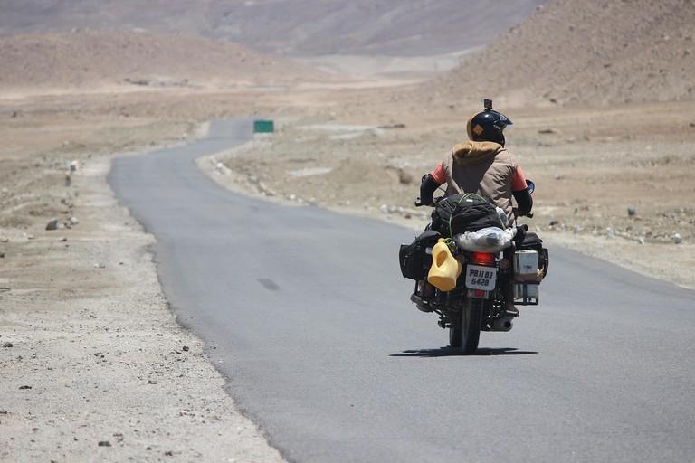 Riding in Ladakh, India