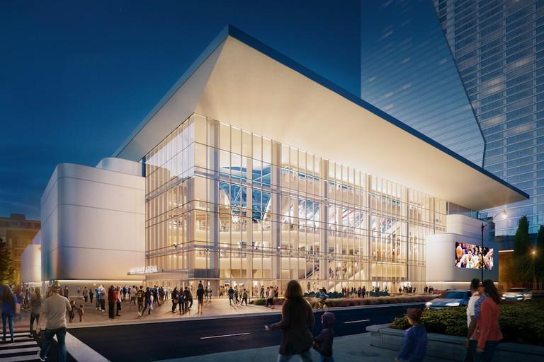 Wintrust Arena at McCormick Square   Courtesy of Pelli Clarke Pelli Architects