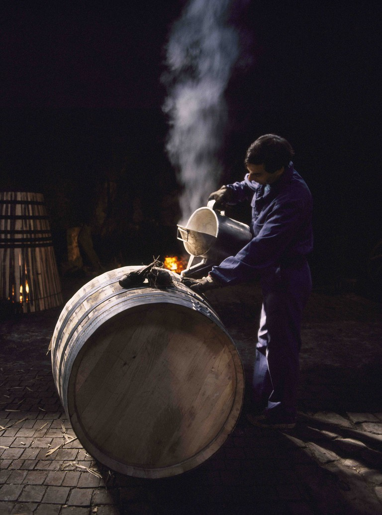 Errazuriz Wine Photographer of the Year (People): Cleaning Port Barrel