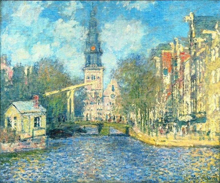 Claude Monet: De Groenburgwal en de Zuiderkerk, 1874 | © WikiArt