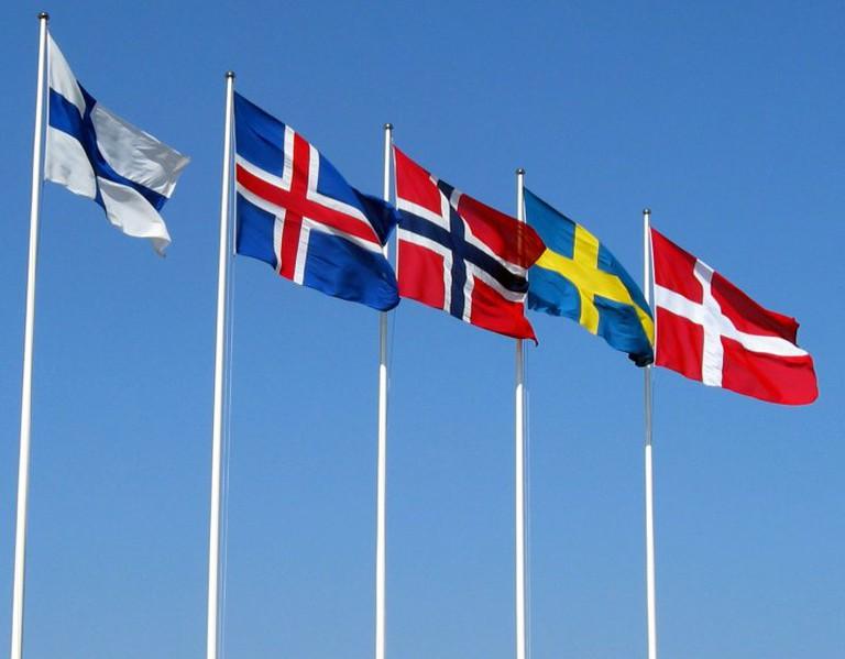 The Nordic Flags © Hansjorn / CC NY-SA 3.0 Wikipedia