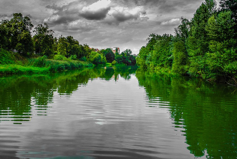 The Odra River, Wroclaw