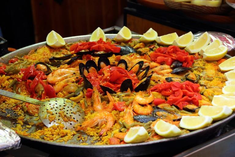 A seafood paella | © Pixabay