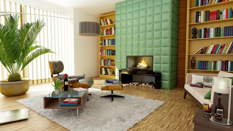 Vibrant colors can lift a room