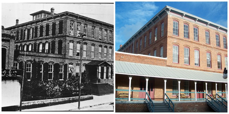 Ybor Factory circa 1916 (photographer unknown) and 2007