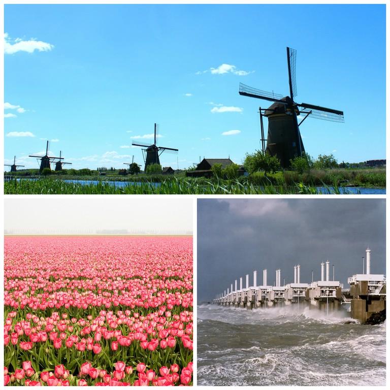 Kinderdijk Windmill network was originally constructed in order to drain waterlogged land