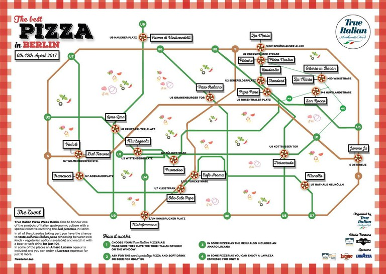 Pizza Week Map © trueitalian.top