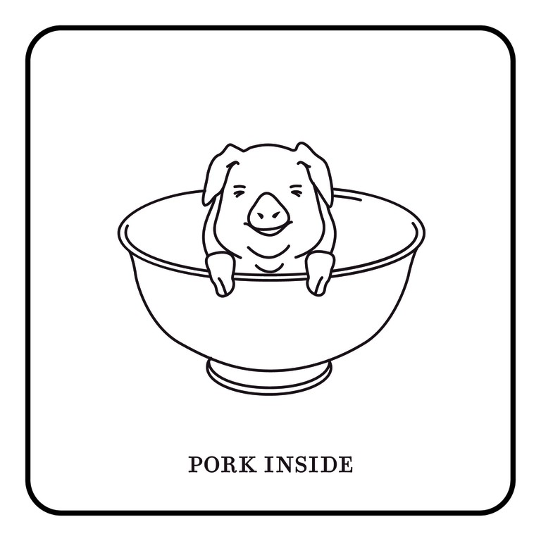 This dish contains pork