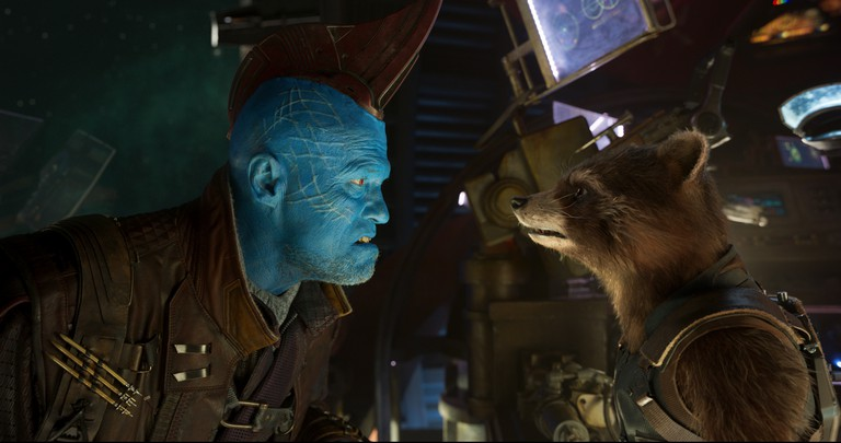 Guardians Of The Galaxy Vol. 2..L to R: Yondu (Michael Rooker) and Rocket (voiced by Bradley Cooper)..Ph: Film Frame..©Marvel Studios 2017