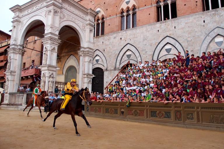 Palio Siena | © pixabay https://pixabay.com/it/gare-cavallo-terra-di-siena-palio-1606175/