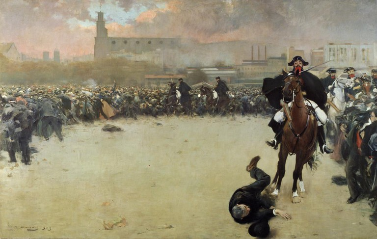 The Charge or Barcelona 1902 CC0 Public Domain
