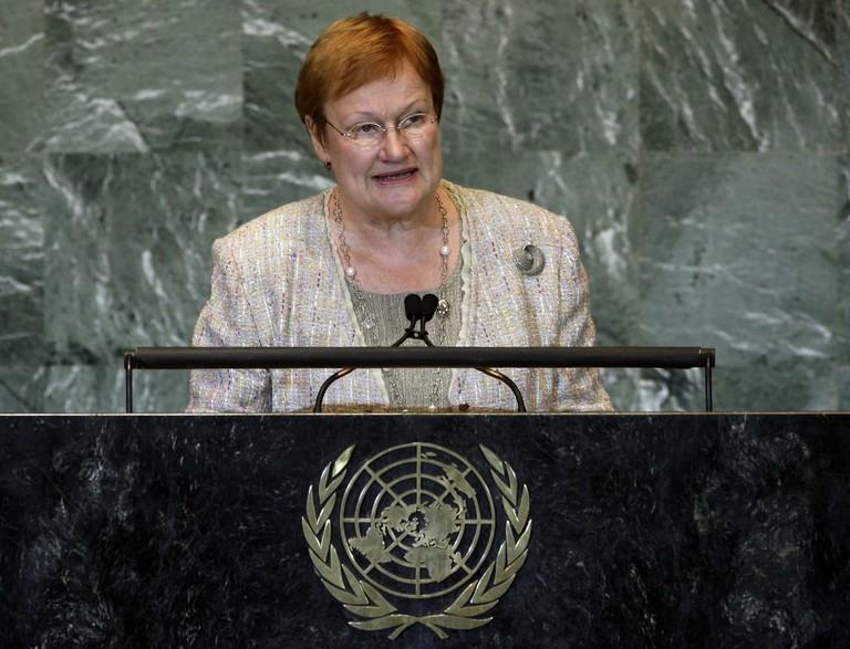 Former President of Finland, Tarja Halonen   © Richard Drew/AP/REX/Shutterstock