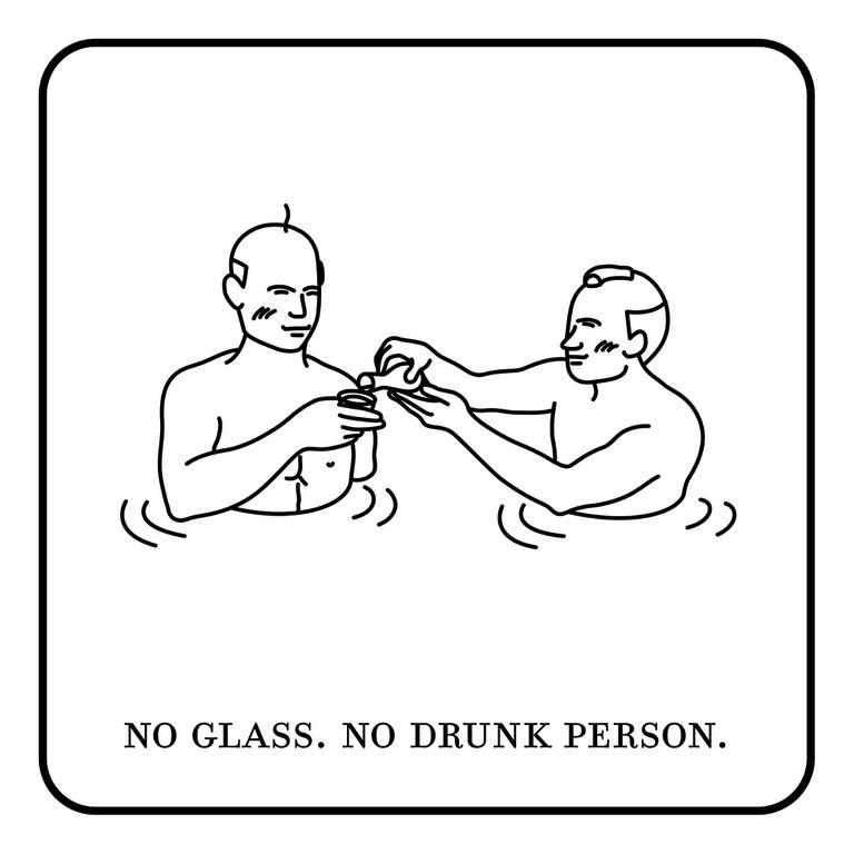 No drinking at the hot spring