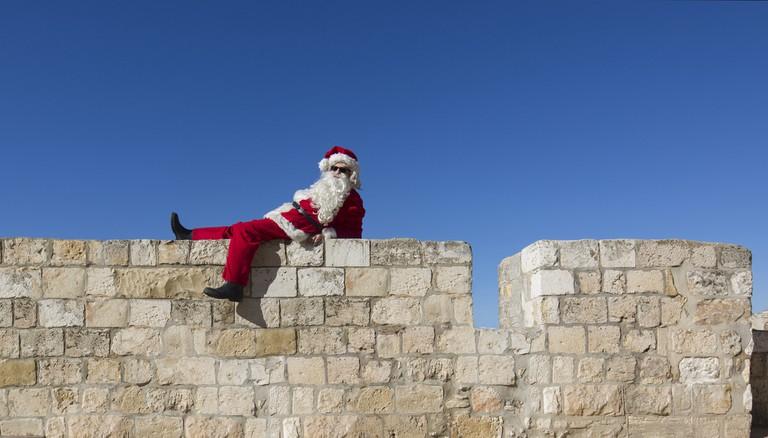 Santa in Jerusalem's Old City | Dafna Tal for the Israeli Ministry of Tourism, Flickr