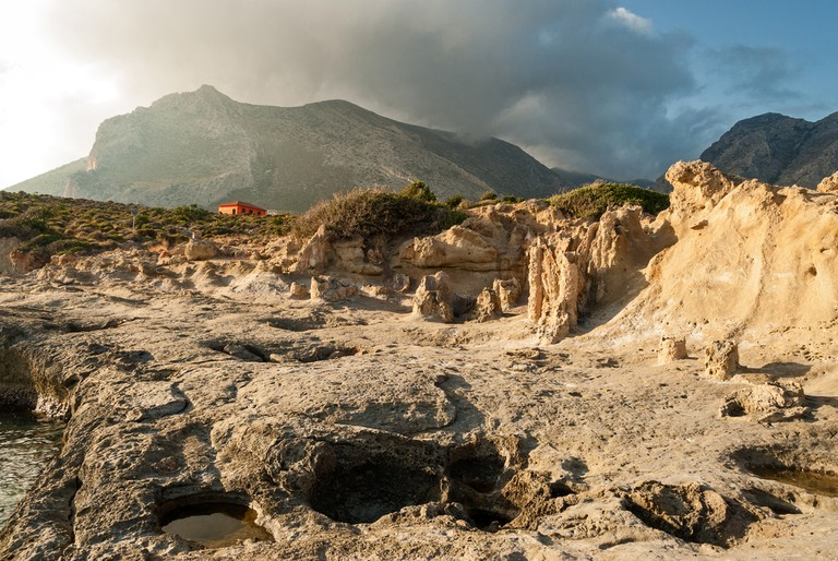 View of the petrified forest of Cape Maleas in Laconia, Greece